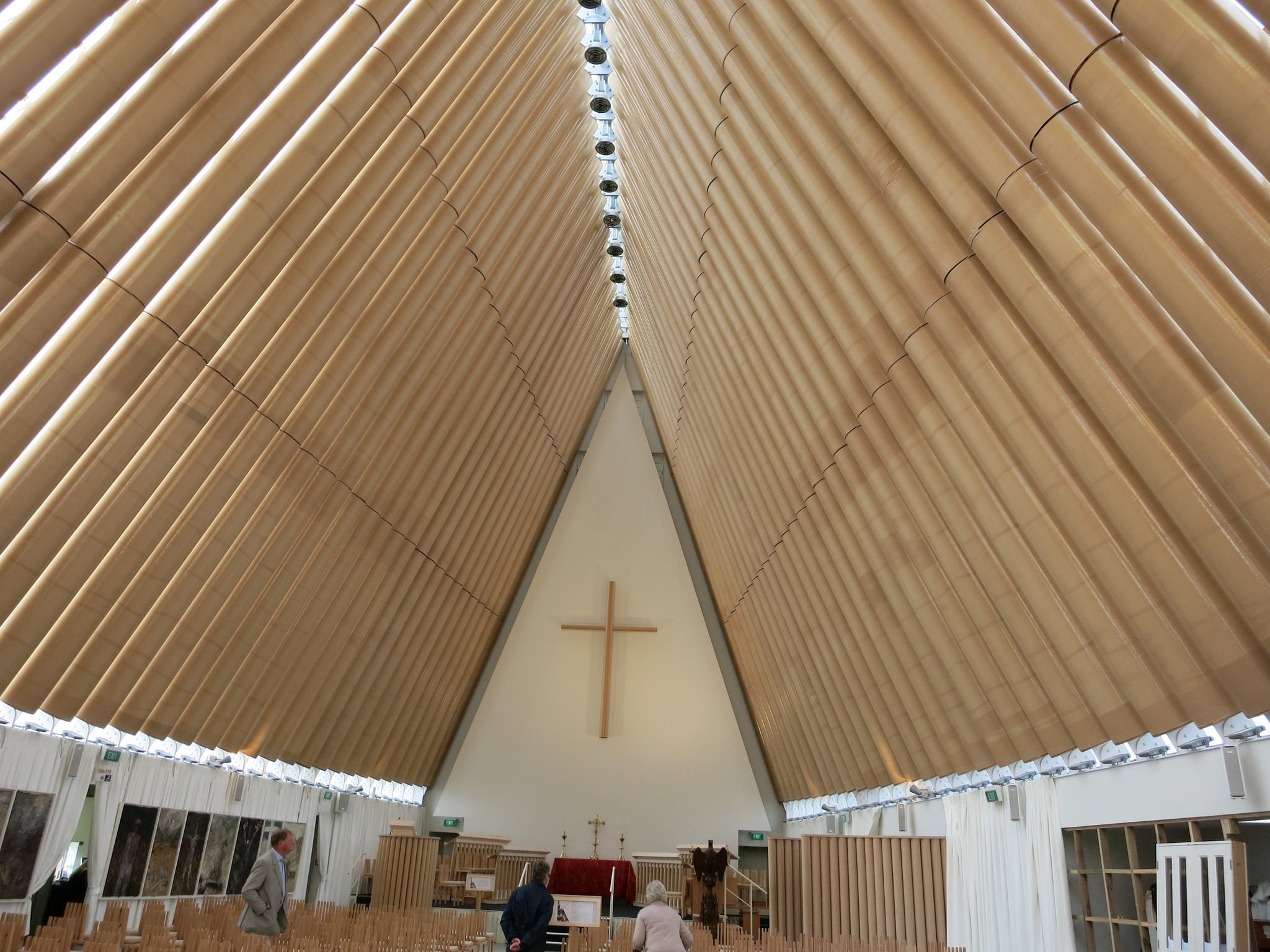 Interior of the post-2011 Christchurch Cathedral in Christchurch, New Zealand