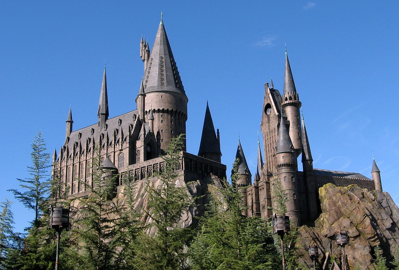 Hogwarts Castle as depicted in the Wizarding World of Harry Potter, located in Universal Orlando Resort's Island of Adventure.